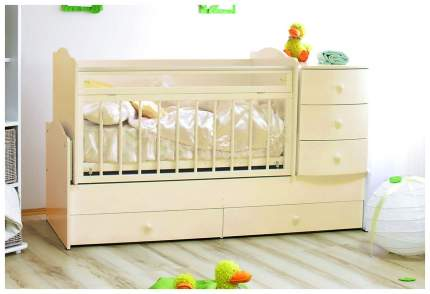 Детская кровать-трансформер Красная Звезда Кирюша, Слоновая кость