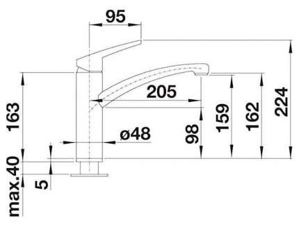 Смеситель для кухонной мойки Blanco NEA 519402 хром
