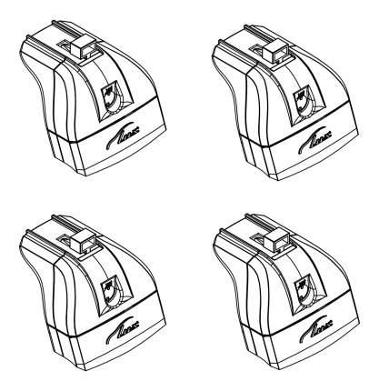 Комплект опор для автобагажника LUX На штатное место LX842488