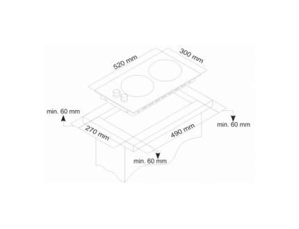Встраиваемая варочная панель газовая Simfer H30N20B512 Black