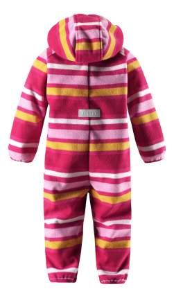 Комбинезон детский Reima Windfleece overall Vinssi розовый флисовый р.74