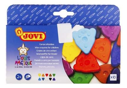 Фигурные восковые мелки для малышей 10 цветов JOVI 941