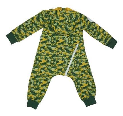Комбинезон Bambinizon из футера Милитари зеленый