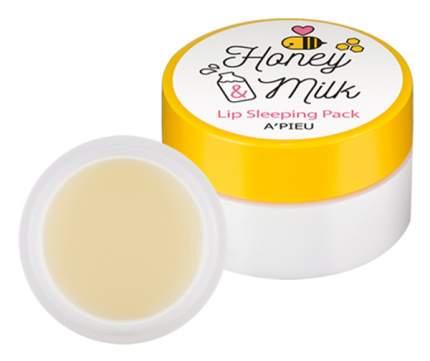 Маска для губ A'PIEU Питательная с молоком и медом 7 гр