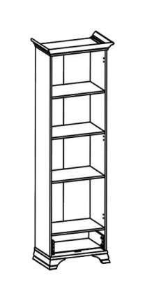 Платяной шкаф BlackRedWhite BRW_00009812 69,5х43,5х197,5, белый