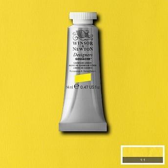 Гуашь Winsor&Newton Designers Gouache лимонный кадмий 14 мл