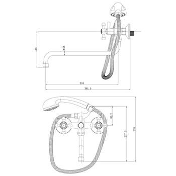 Смеситель для ванны LeMark Promotion LM6041C