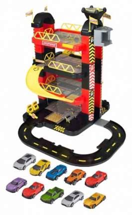 """Игровой набор Teamsterz """"4-х уровневый гараж-башня"""" с 10 машинками HTI"""