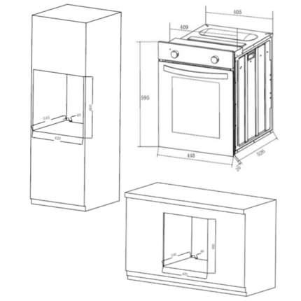 Встраиваемый электрический духовой шкаф Maunfeld EOEM516W