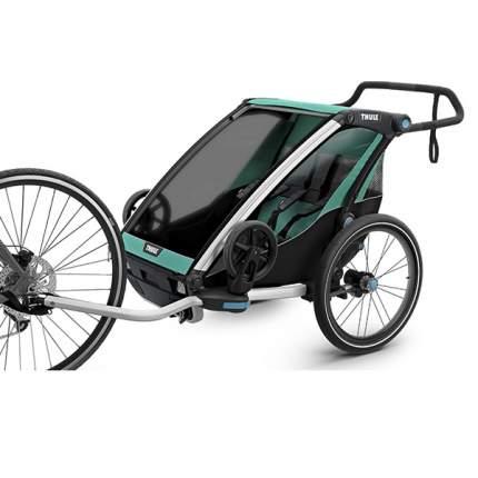 Мультиспортивная коляска Thule Chariot Lite для 2 детей, Blue Grass/Black
