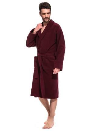 Мужской банный халат Vinous Label ЕvaTeks 365, винный, 54-56