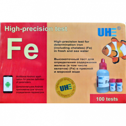 Тест на определение содержания железа в пресной и соленой воде UHE Fe test
