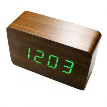 Настольные цифровые часы-будильник VST-863 (коричневые)