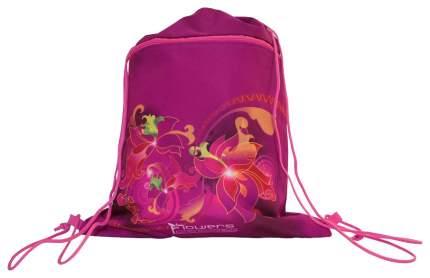 Мешок для обуви TIGger NATURE QUEST Flowers с карманом на молнии Для девочек