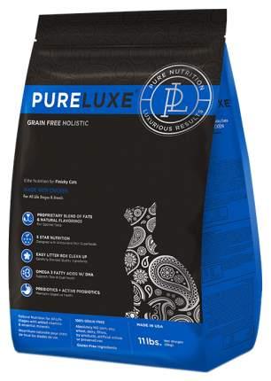 Сухой корм для кошек и котят PureLuxe, для привередливых, курица, 5кг