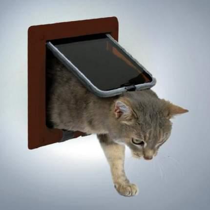 Дверца для кошек Trixie 4-Way Cat Flap, коричневый