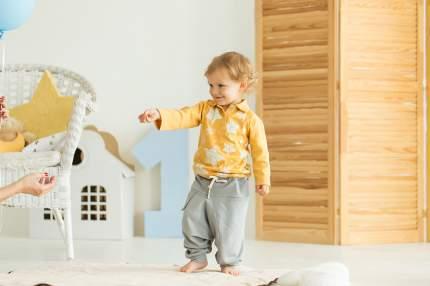 Брюки детские Bambinizon Серый меланж ШТ-СМ р.80 серый