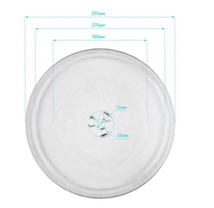 Тарелка ONKRON KOR-610S для микроволновой печи Daewoo 255 мм