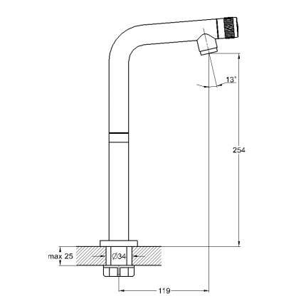 Кран для воды Solone SOL14-A630