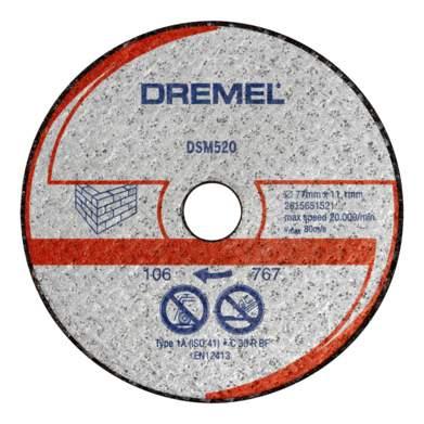 Отрезной диск по камню для угловых шлифмашин DREMEL 2615S520JA