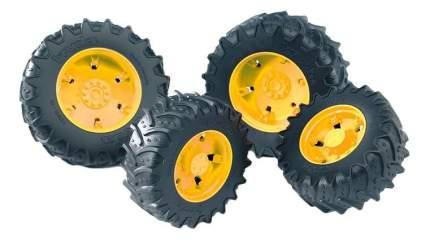 Шины Bruder для сдвоенных колёс с жёлтыми дисками 4 шт. 12,5 см
