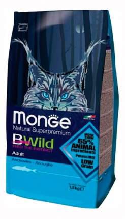 Сухой корм для кошек Monge Bwild, анчоус, 1,5кг