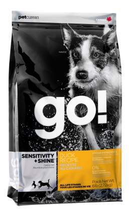 Сухой корм для собак GO! Sensitivity + Shine Grain Free Duck Recipe, утка, 2.72кг