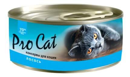 Консервы для кошек Pro Cat, лосось, 100г