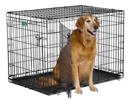 Клетка для собак MidWest iCrate 2 двери 1542DD 106х71х76hсм, черная