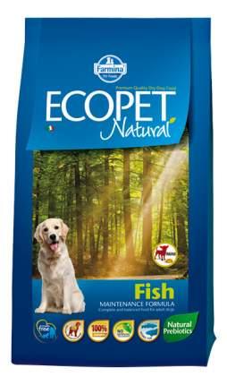 Сухой корм для собак Farmina Ecopet Natural Mini, для мелких пород, рыба, 12кг