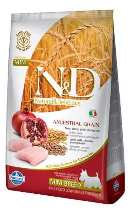 Сухой корм для собак Farmina N&D Mini, для мелких пород, курица и гранат, 2,5кг