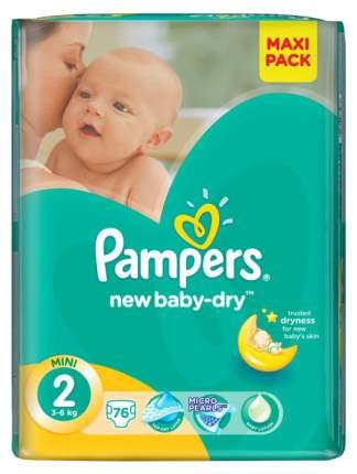 Подгузники для новорожденных Pampers New Baby Mini 2 (3-6 кг), 76 шт.