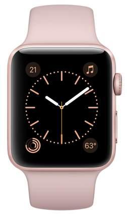 Смарт-часы Apple Watch Series 1 42mm Rose Gold Al/Pink (MQ112RU/A)
