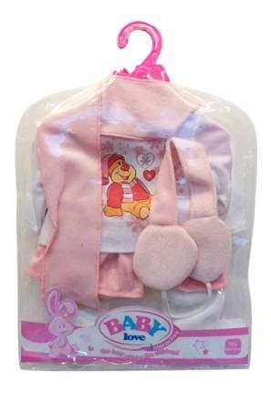 Кофточка, штаны, шарф, головной убор наушники 30x20 см для кукол Junfa toys
