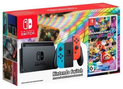 Портативная игровая консоль Nintendo Switch Red Blue + Mario Kart 8 Deluxe