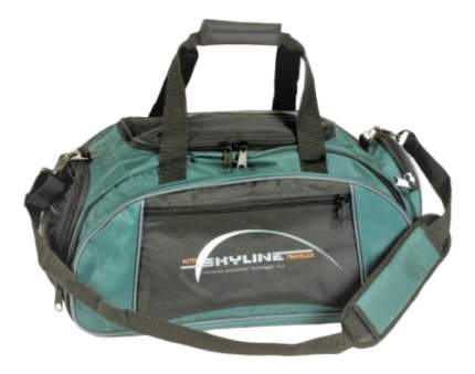 Дорожная сумка Polar 6063 черная/зеленая 50 x 30 x 24
