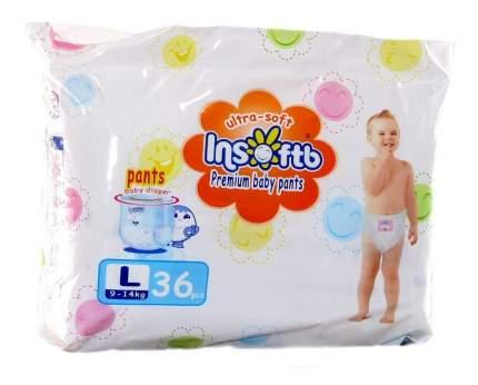 Подгузники-трусики Insoftb Premium Ultra-Soft L (9-14 кг), 36 шт.
