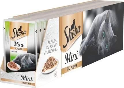 Влажный корм для кошек Sheba Mini c уткой, 33 шт по 50г