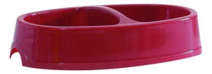 Двойная миска для собак Beeztees, пластик, красный, 2 шт по 0.2 л
