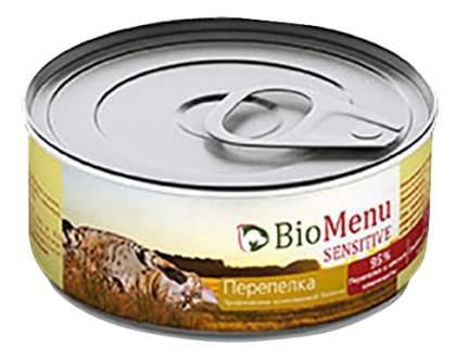 Консервы для кошек BioMenu Sensitive, паштет с перепелкой, 100г