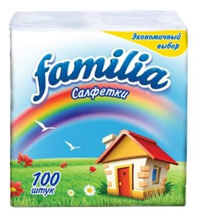 Бумажные салфетки Familia 24*23 см белые 100 штук