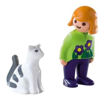 Игровой набор PLAYMOBIL 1.2.3.: Женщина с кошкой