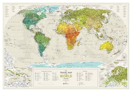Географическая карта 1DEA.me Travel Map Geograghy World