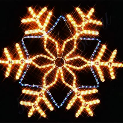 Снежинка из дюралайта Snowhouse I-R-LDP12SF-C-YB 81 см