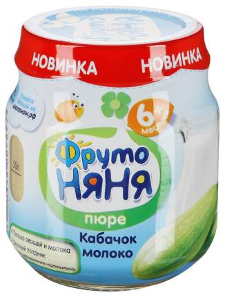 Пюре овощное ФрутоНяня Кабачок молоко с 6 месяцев 100 гр