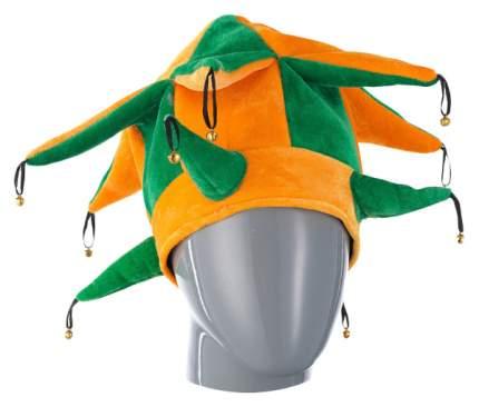 Шутовской колпак с шипами и бубенцами желто зеленый Snowmen Е40267