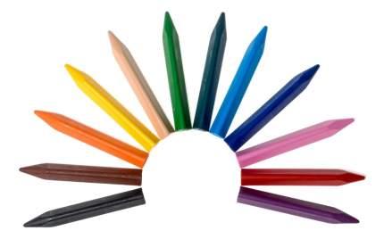 Восковые мелки JOVI Восковые треугольные 12 цветов