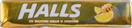 Карамель леденцовая Halls со вкусом меда и лимона 25 г