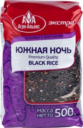 Рис Агро-Альянс черный нешлифованный южная ночь экстра 500 г