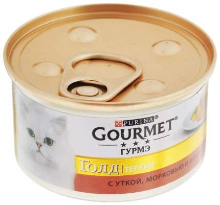 Консервы для кошек Gourmet Gold, утка, овощи, 24шт, 85г